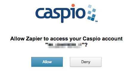 Authorize Caspio Cloud Database on Zapier