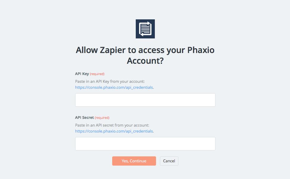 Add Phaxio to Zapier