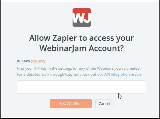 WebinarJam API Key