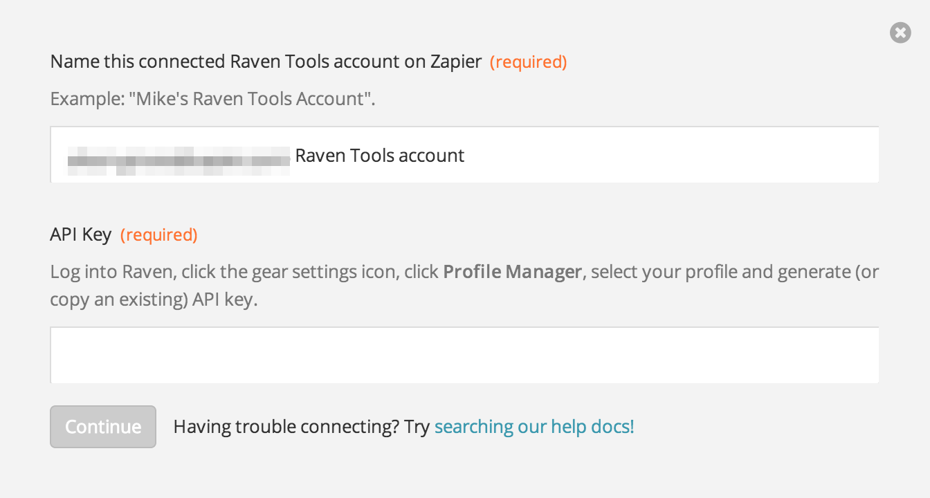 Finding your Raven Tools API Key