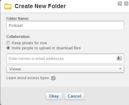 Create Box folder