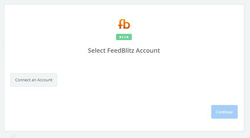 Click to connect FeedBlitz