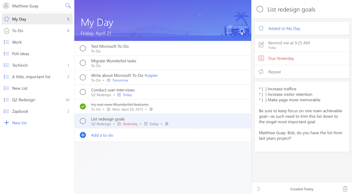 Microsoft To-Do My Day