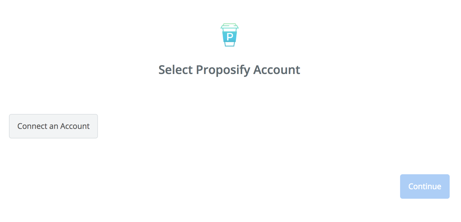 Click to connect Proposify