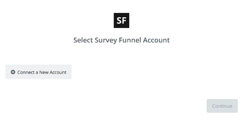 Click to connect Survey Funnel'