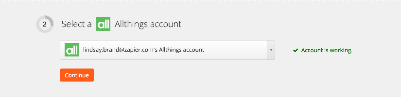 Your Allthings account is authorized