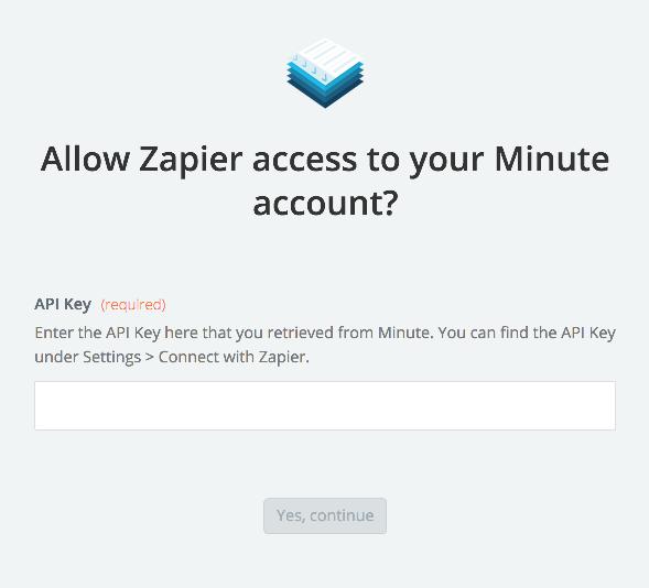 Minute API Key