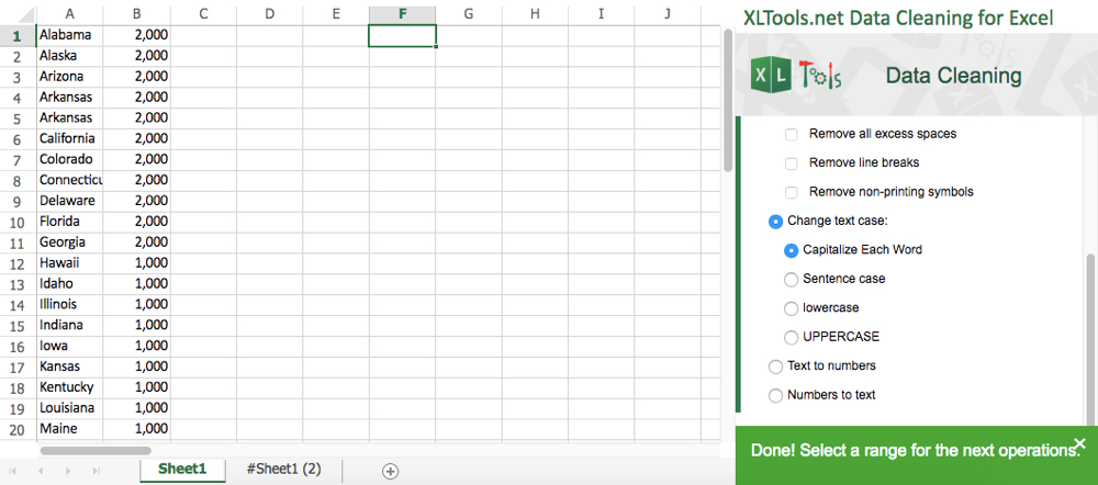 XLTools Data Cleaning Excel Add-in