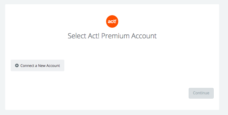 Click to connect Act! Premium