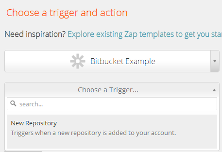 Your Dev App on Step 1 of Zap Editor