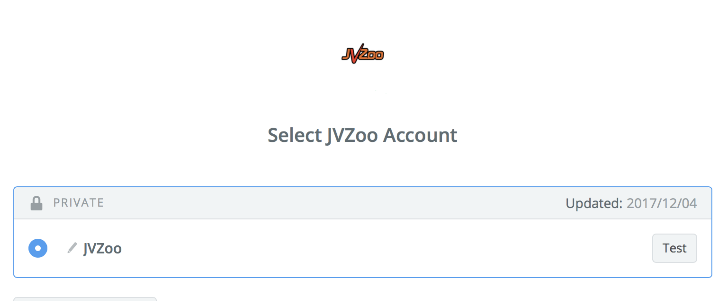 JVZoo connection successfull