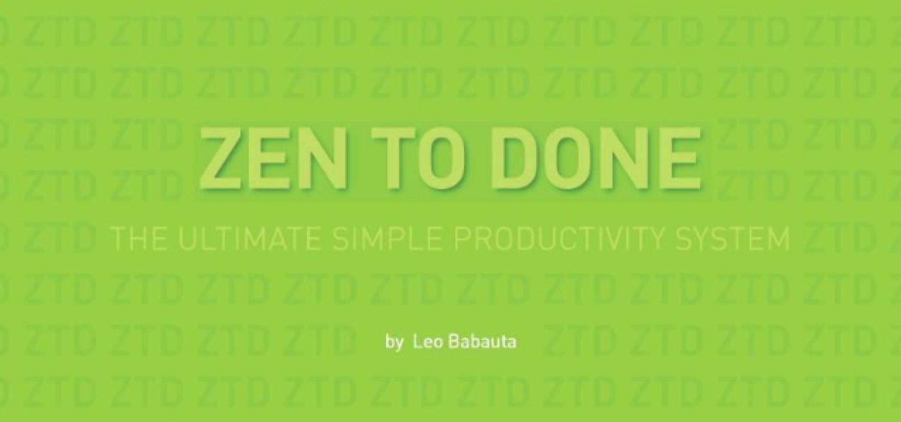 Zen to Done marketing image
