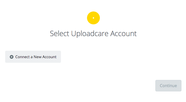 Click to connect Uploadcare