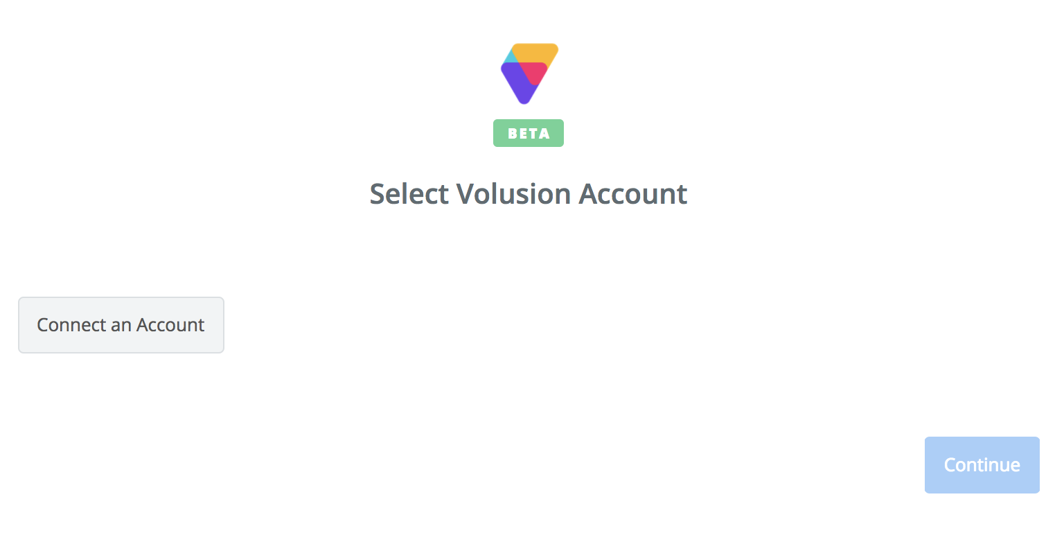 Click to connect Volusion