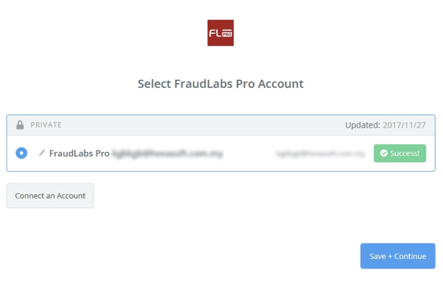 FraudLabs Pro connection successful