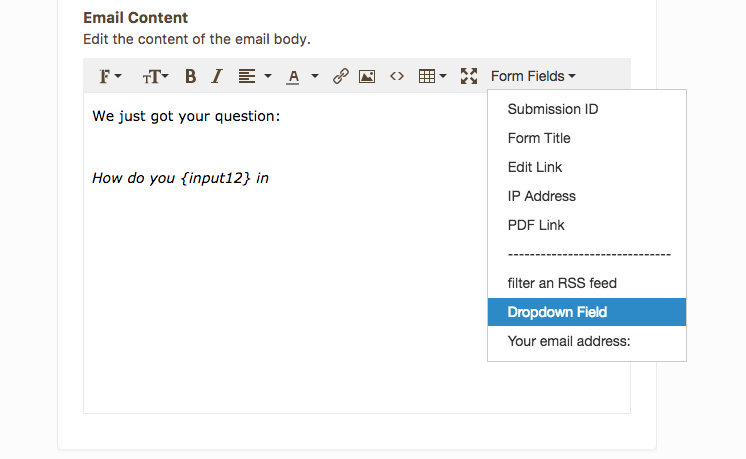 Send email notification after filling in form in JotForm
