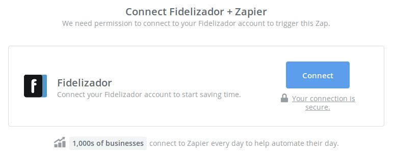 Click to connect Fidelizador