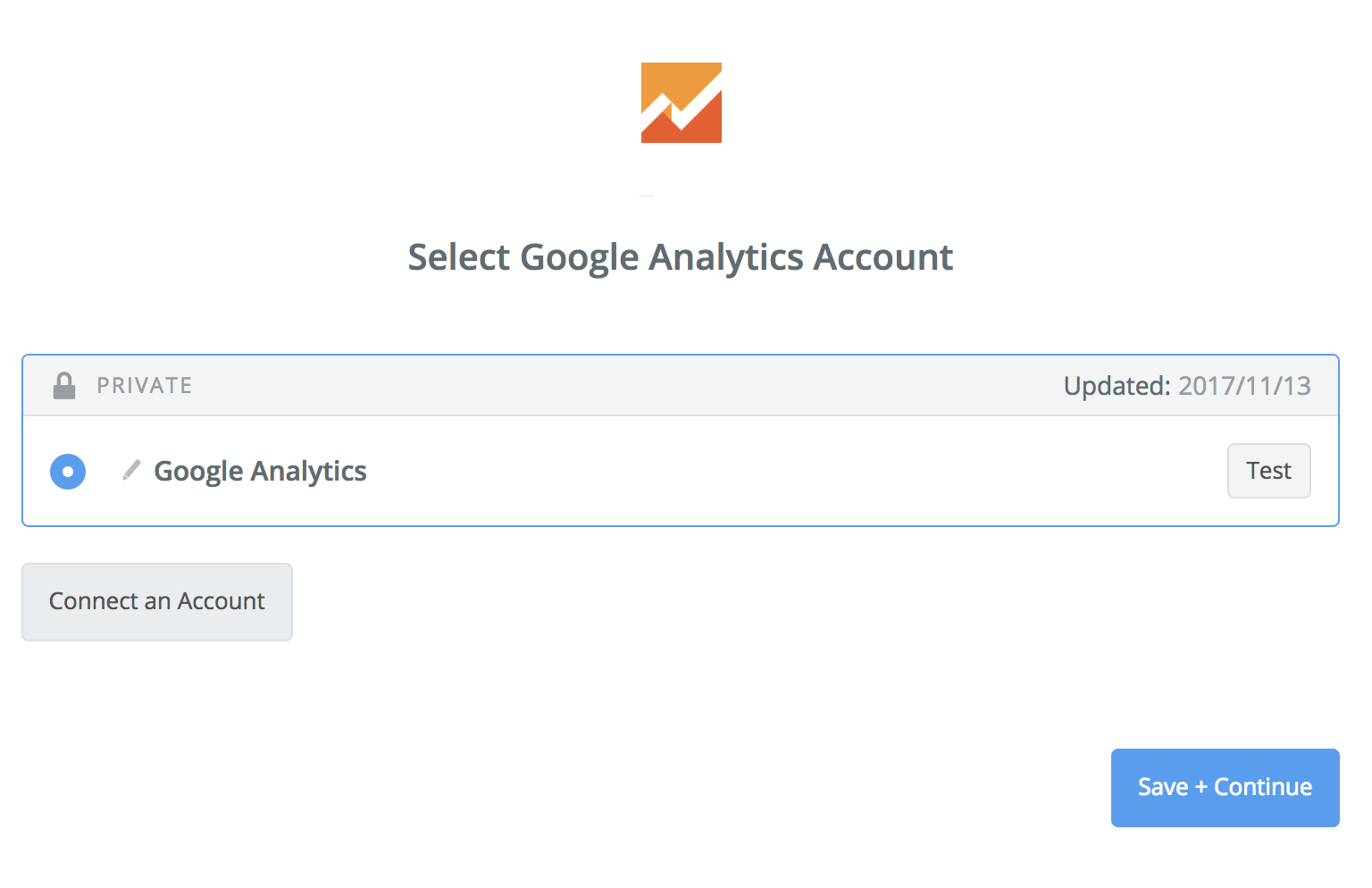 Google Analytics connection successful