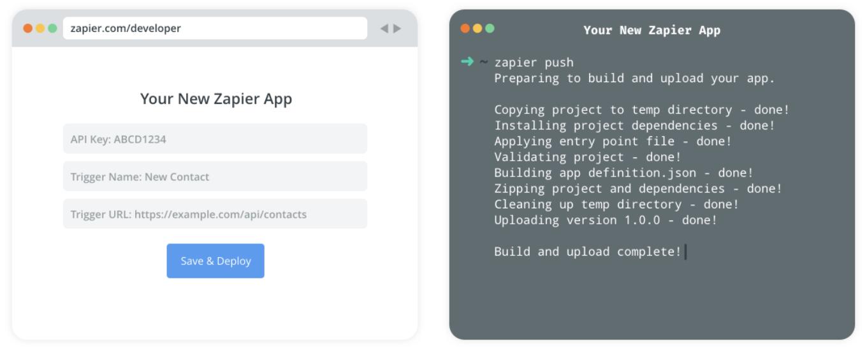 Zapier Developer Platform Web Builder and CLI