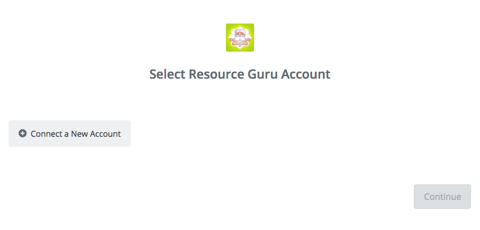 Click to connect Resource Guru