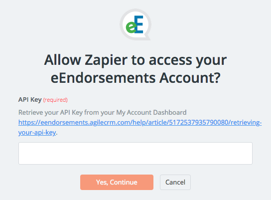 eEndorsements API Key