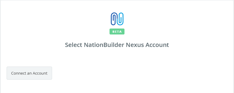 Click to connect NationBuilder Nexus