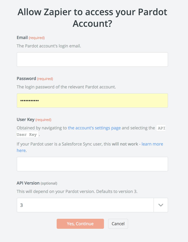 Pardot API Key