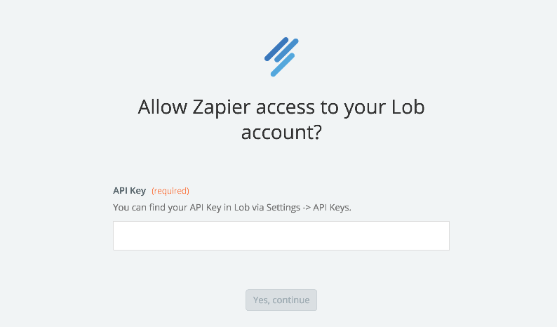 Lob API Key