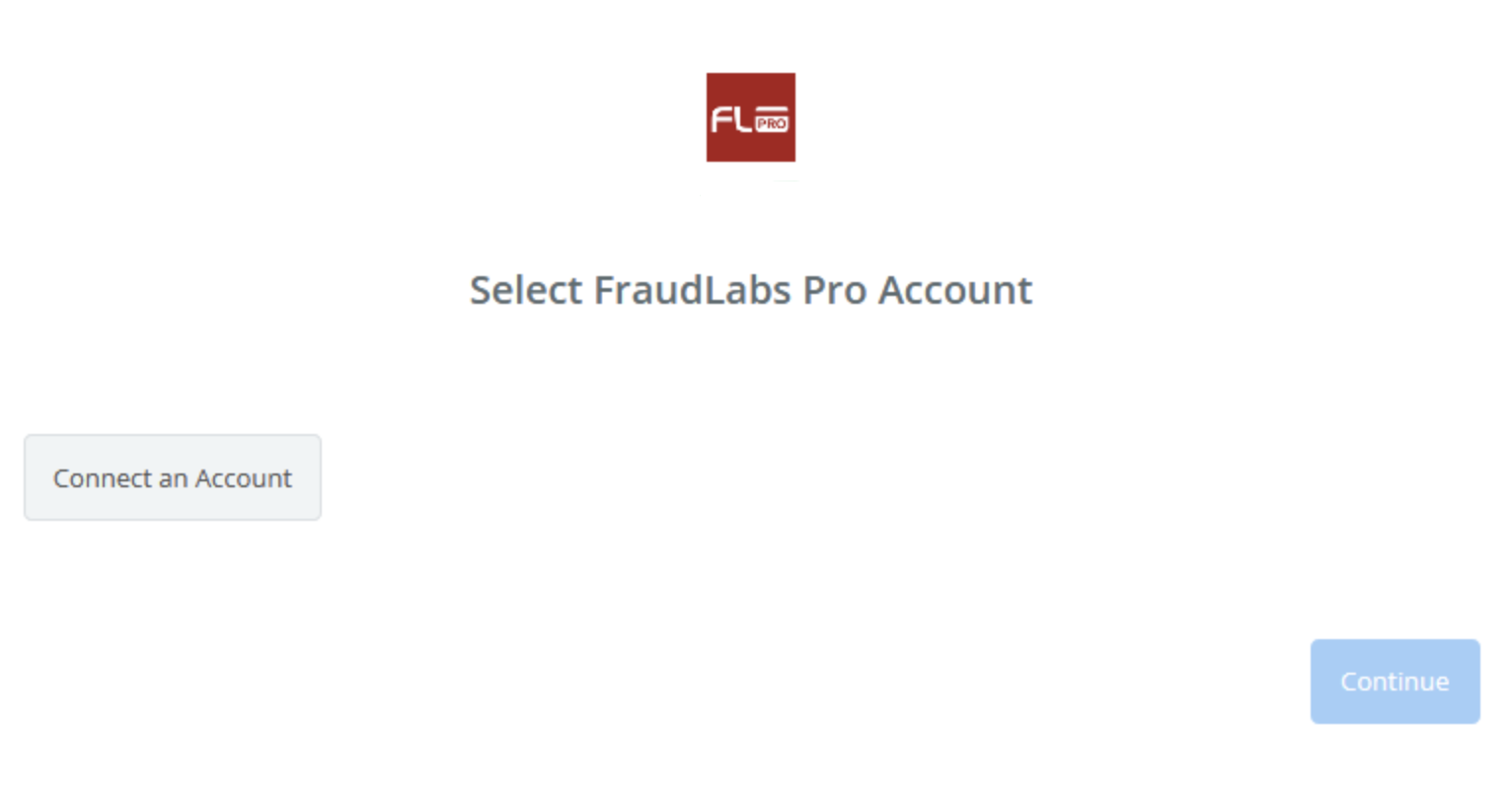 Click to connect FraudLabs Pro