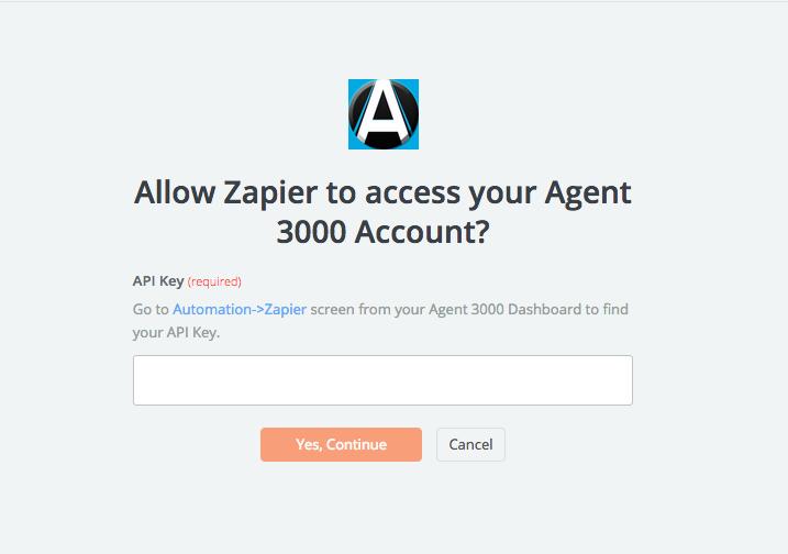 Agent 3000 API Key