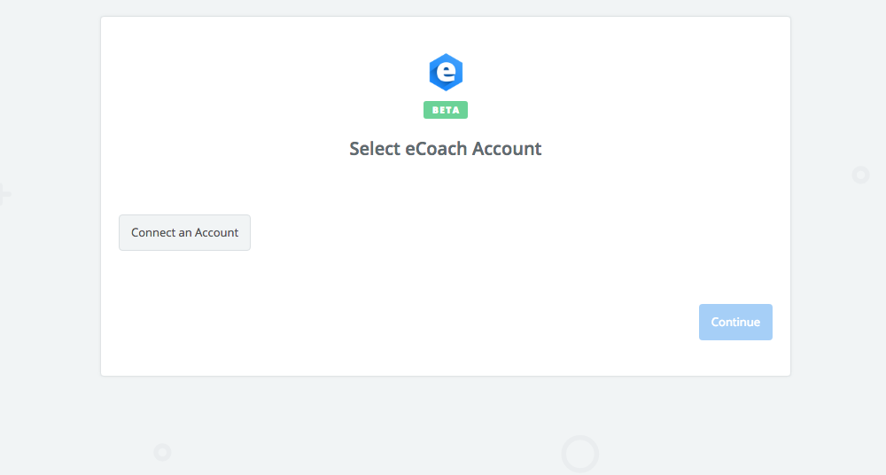 Click to connect eCoach