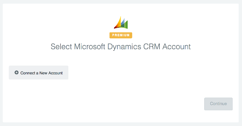Click to connect Microsoft Dynamics CRM