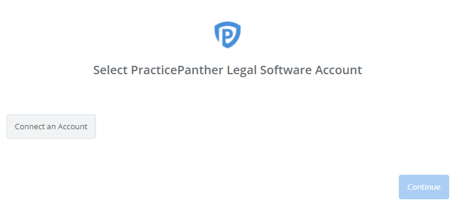 Click to connect PracticePanther Legal Software