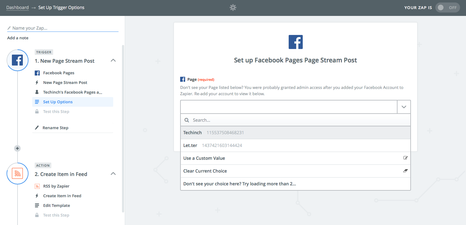 Facebook Page to RSS