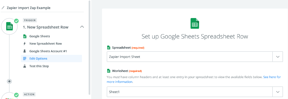 Google sheet new spreadsheet trigger