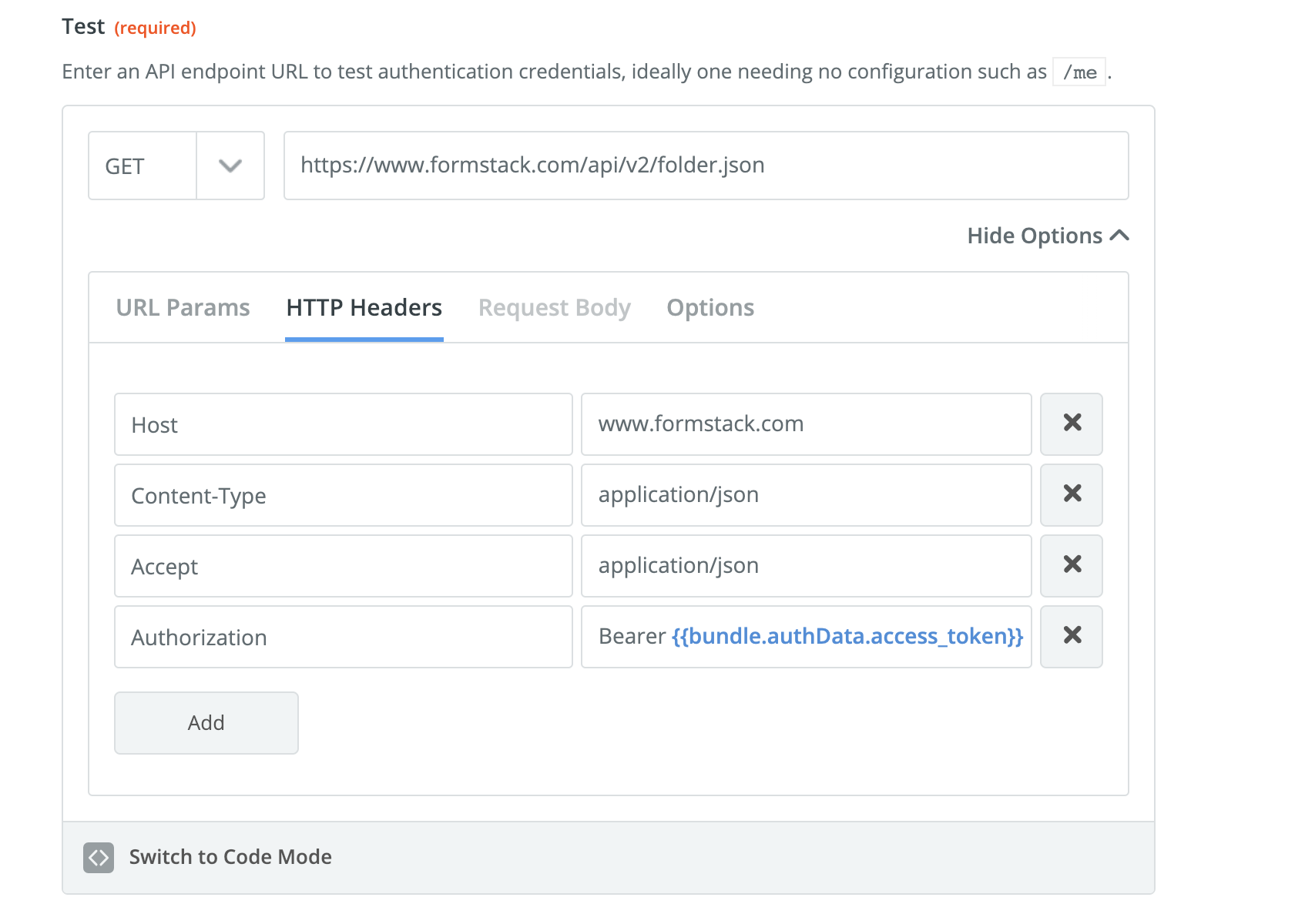 Test API Call Zapier OAuth