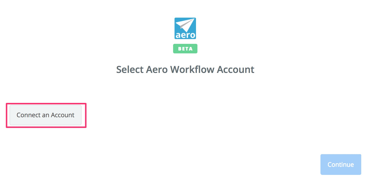 Click to connect Aero Workflow