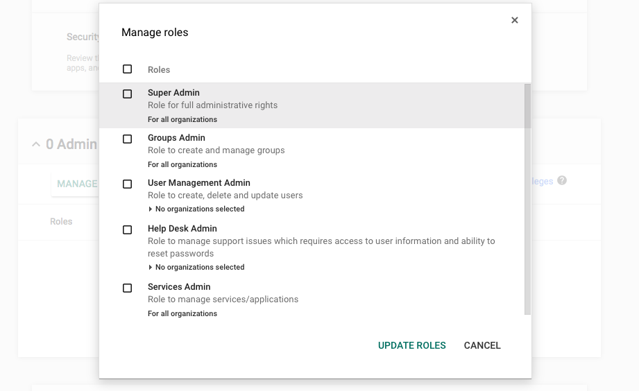 G Suite make user admin
