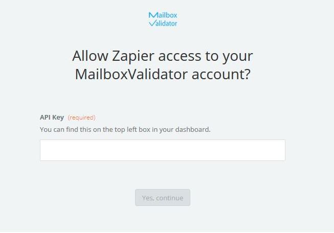 MailboxValidator API Key