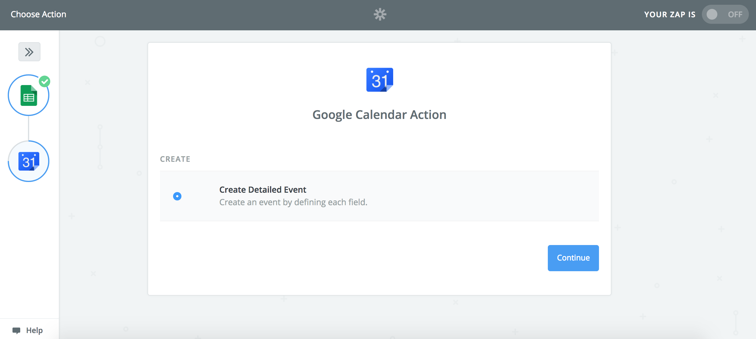 View your Google Calendar Trigger