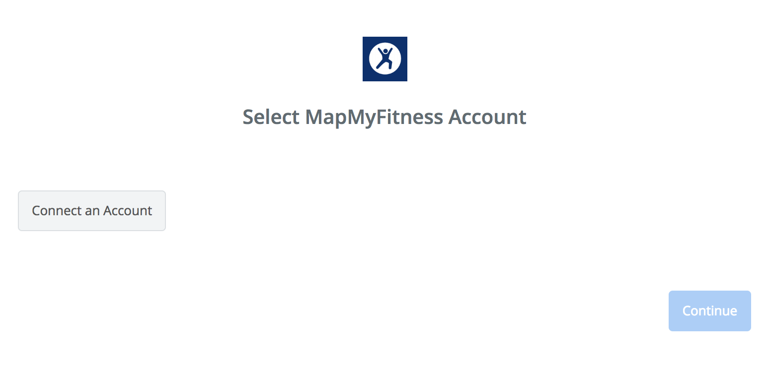 Click to connect MapMyFitness