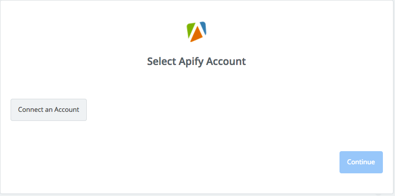 Click to connect Apify