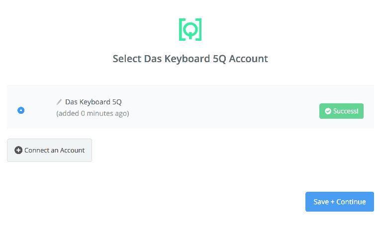 Das Keyboard 5Q connection successfull