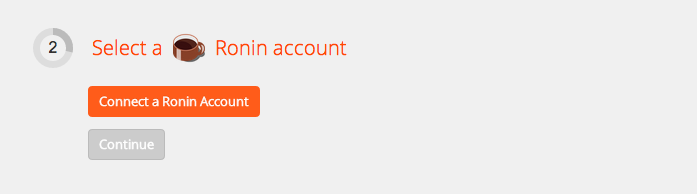 Connect your Ronin account to Zapier