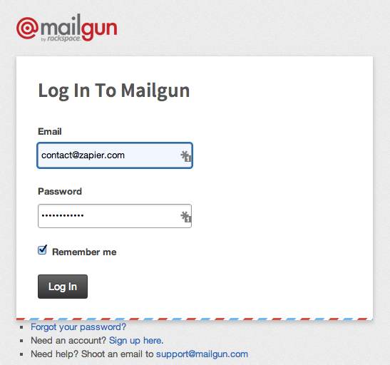 Log into your Mailgun account