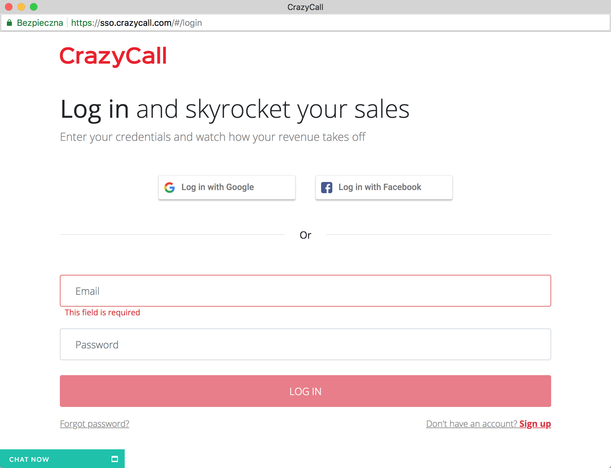 Login to CrazyCall