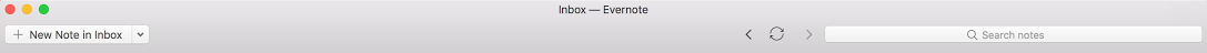 Evernote toolbar customized