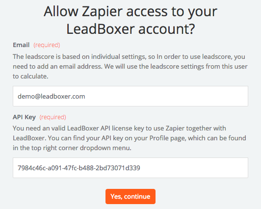LeadBoxer API Key