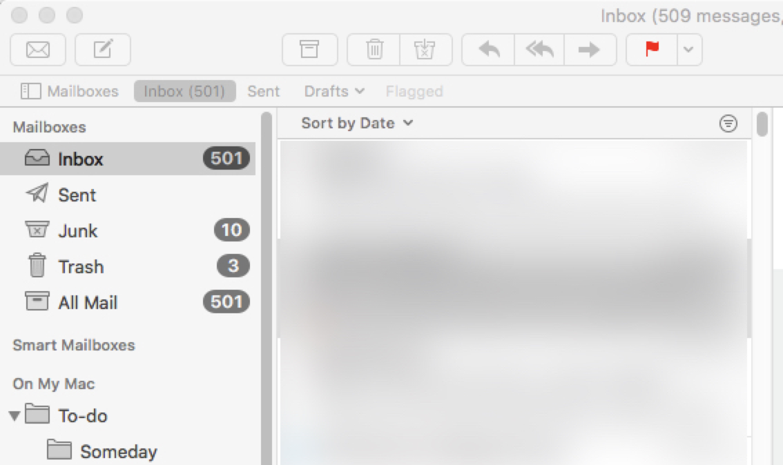 Outlook email inbox