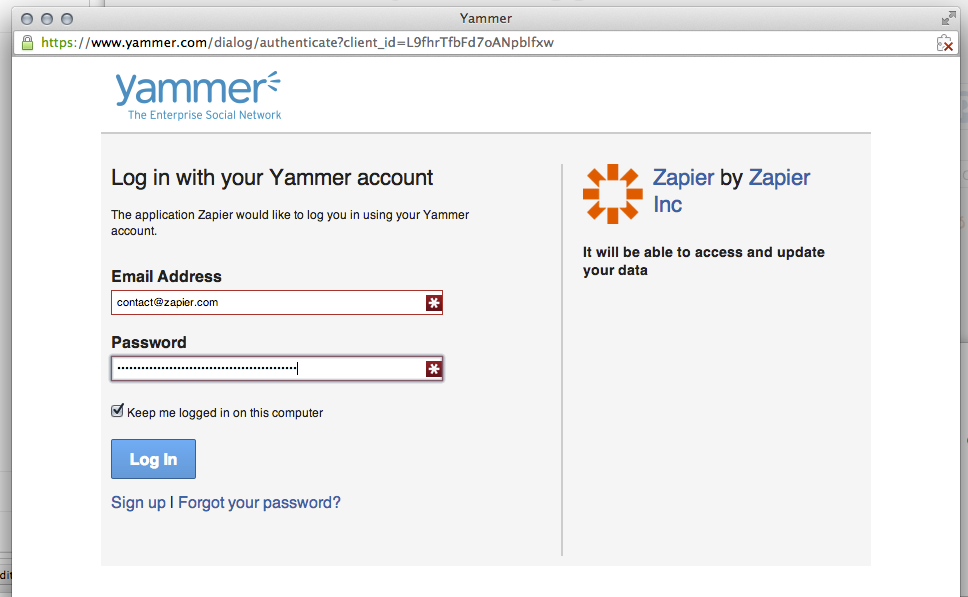 Connect Yammer 3